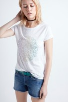 Zadig & Voltaire Kim Linen Print T-Shirt