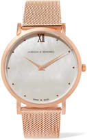 Larsson & Jennings Lugano Bernadotte Rose Gold-plated Mother-of-pearl Watch