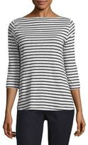 Eileen Fisher Linen Striped Boatneck Top