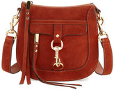 Rebecca Minkoff Dog Clip Suede Saddle Bag, Baked Clay