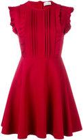 RED Valentino ruffled mini dress - women - Elastodiene/Polyamide/Viscose - L