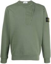 Stone Island compass badge cotton sweatshirt