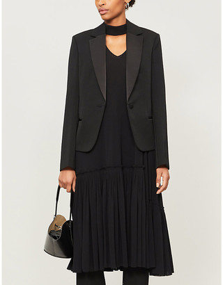 Jil Sander Maiva single-breasted wool and silk blazer