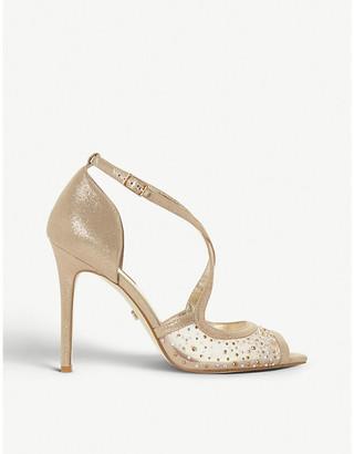 Dune Misa diamante and mesh stiletto-heel sandals