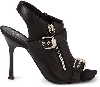 Giuseppe Zanotti Buckle Leather Slingback Sandals
