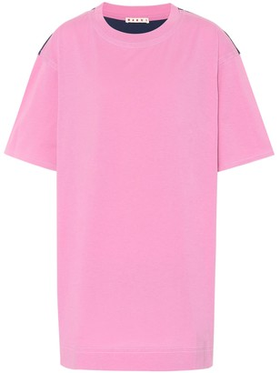 Marni Jersey and satin T-shirt