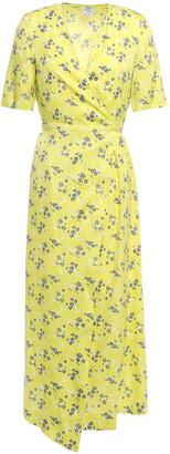 Baum und Pferdgarten Abigail Floral-print Silk-blend Twill Midi Wrap Dress