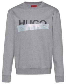 HUGO BOSS Interlock-cotton sweatshirt with new-season logo