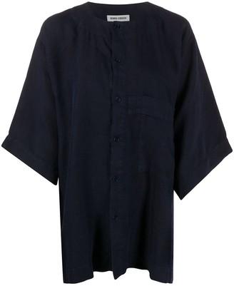 Henrik Vibskov Oversized Collarless Shirt