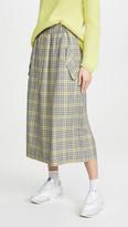 Tibi Smocked Waistband Full Skirt