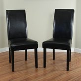 Monsoon Villa Faux Leather Black Dining Chairs (Set of 2)