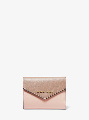 Michael Kors Medium Color-Block Crossgrain Leather Envelope Wallet