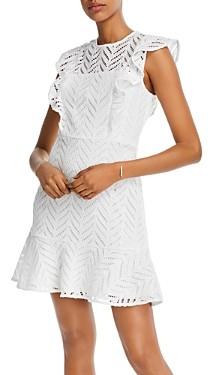 Aqua Lace Ruffled Dress - 100% Exclusive