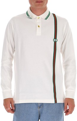 Gucci Interlocking G Long Sleeve Polo Shirt