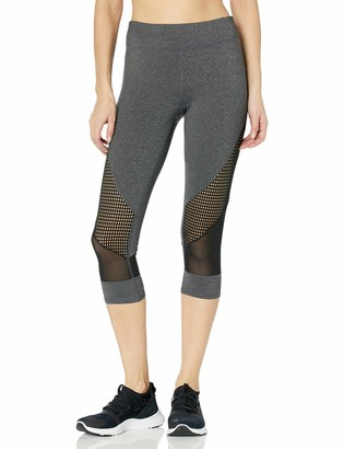 Andrew Marc Women's Cropped Legging with Mesh Detail
