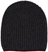 Barneys New York MEN'S RIB-KNIT WOOL-CASHMERE BEANIE
