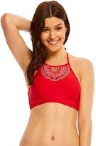 Hobie A Stitch In Time High Neck Crop Bikini Top 8140324