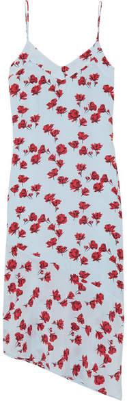 Equipment Jada Floral-print Washed-silk Midi Dress