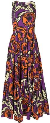 La DoubleJ Floral-Print Tiered Dress