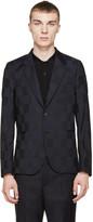 Paul Smith Black & Navy Check Blazer