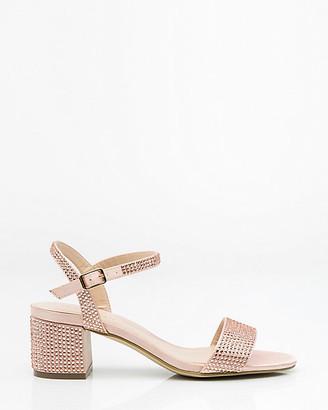Le Château Jewel Embellished Satin Ankle Strap Sandal