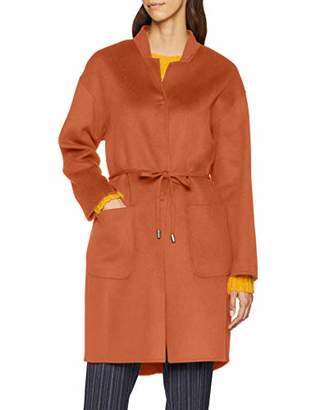 Benetton Women's Coat Suit Jacket, Blue (Dark 252), (Manufacturer Size: 46)