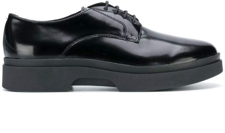 Geox varnished lace-up shoes