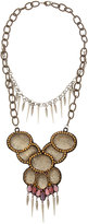 Deepa Gurnani Multi-Chain Bib Necklace, Lavender