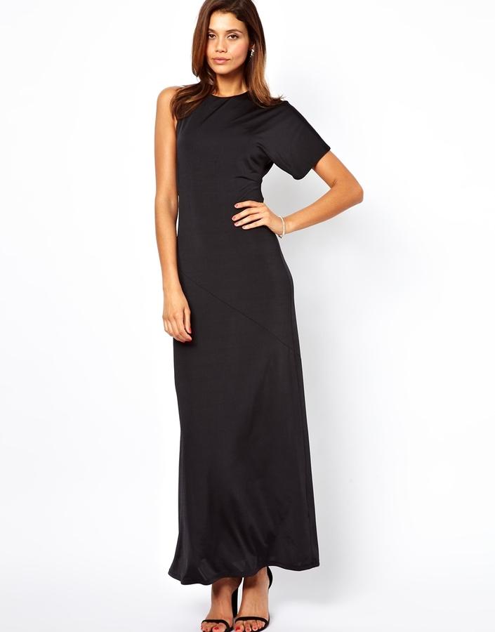 Asos Asymmetric Bias Maxi Dress