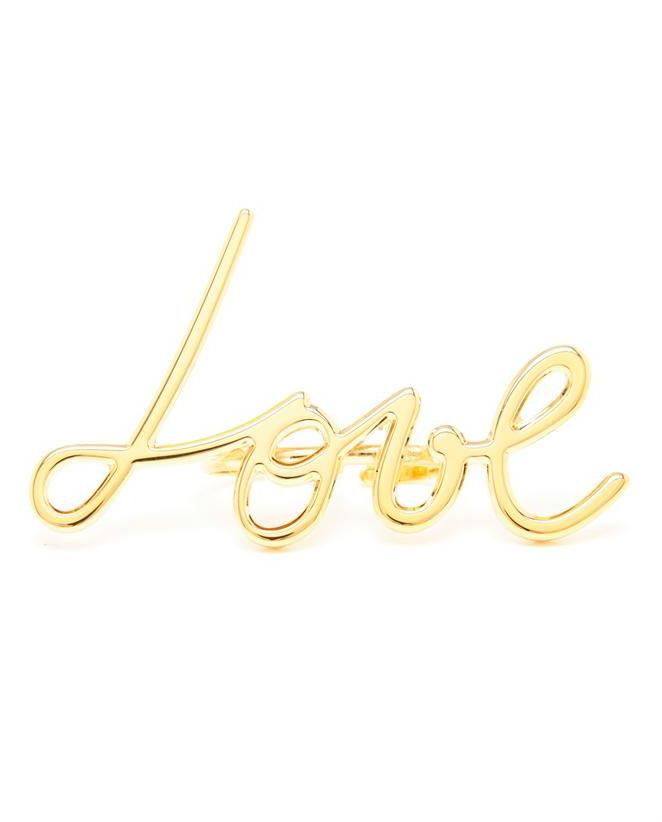 Lanvin Gold Love Ring