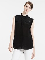 Calvin Klein Jeans Sleeveless Satin Shirt