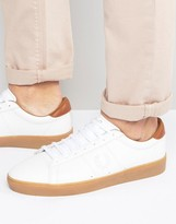 Fred Perry Spencer Tumbled Leather Sneakers