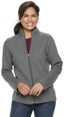 Croft & Barrow Petite Quilted Zip-Front Jacket