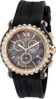 Akribos XXIV Women's AK545BK Swiss Quartz Chronograph Ceramic Rubber Strap Watch