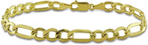 Ice 10K Gold 7mm Figaro Mens Bracelet with Lobster Clasp