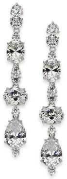 Eliot Danori Silver-Tone Crystal Linear Earrings, Created for Macy's