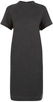 Jaeger Ponte Funnel Neck Dress, Charcoal