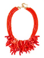 BaubleBar Coral Reef Collar-Coral