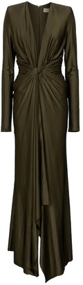 Alexandre Vauthier Gathered stretch-jersey gown