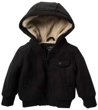 Urban Republic Faux Shearling Lined Varsity Jacket (Baby Boys)