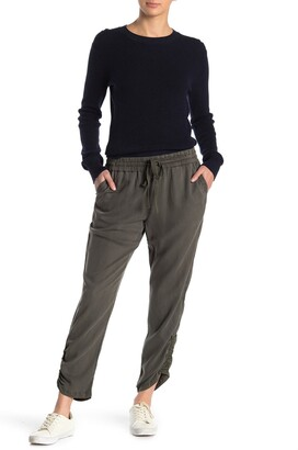 Caslon Tencel Ruched Ankle Crop Pants