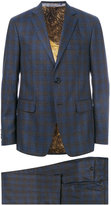 Etro check suit jacket - men - Cotton/Cupro/Viscose/Wool - 48