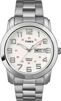 Timex Men's Dress Watch White Dial Stainless Steel Bracelet