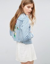 French Connection Dionne Embroidered Denim Jacket
