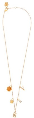 Versace Crystal-embellished Pendant-drop Necklace - Gold
