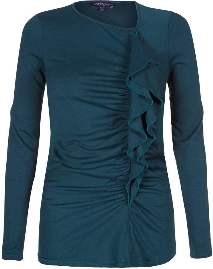 House of Fraser HotSquash ThinHeat top with frill detail