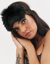 Savage X Fenty Savage x Fenty faux fur eye mask in black