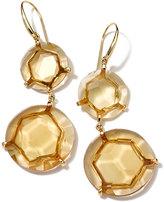 Ippolita Gemma Snowman 18k Citrine Double-Drop Earrings