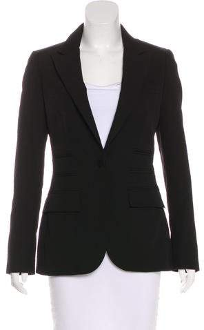 Giambattista Valli Wool Button-Up Blazer