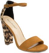 Pierre Dumas Tan Leopard Debbie Sandal